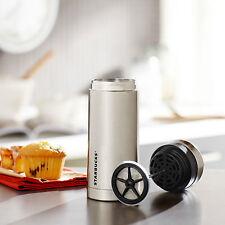 Starbucks Stainless Steel Travel Press Tumbler 10 fl oz NWT