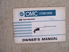 1968 OMC Stern Drive Boat Motor Engine 80 Horsepower HP Owner Manual Operation M