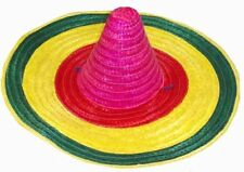 57cm Mexican Coloured Straw Hat- Fancy Dress (HB72)
