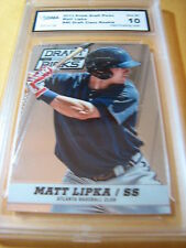 MATT LIPKA BRAVES 2013 PRIZM DRAFT PICKS # 40 ROOKIE RC GRADED 10