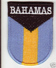 BAHAMAS  Flag  Country Patch Shield Style