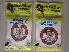"""New listing 1971 Micky Mouse Club! 2 New Baby Washcloth packs. 9"""" x 9"""" Unopened. No Reserve"""