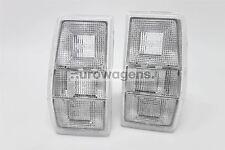 Ford Fiesta Mk2 83-89 Transparente Cola Trasera Luces Lámparas Par Set controlador de pasajeros