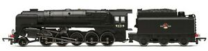 Hornby R3942 - Class 9f 2-10-0 Loco BR Plain Black Livery 92219 DCC Ready T48Pos