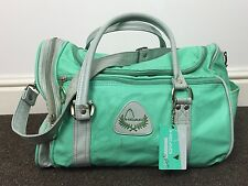VINTAGE RETRO 90s GREEN GREY HEAD DUFFLE BAG HOLDALL TRAVEL SPORTS GYM