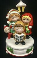 Vintage Christmas Wind Up Music Box Berman & Anderson Japan 1982    SEE VIDEO