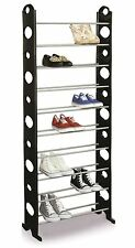 Shoe Rack 10 Shelves 1.5m High Holds 30 Pairs Shoes Flip Flops Boots Trainers