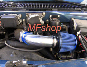 Blue For 1996-2005 Chevy Astro Van GMC Safari 4.3L V6 Air Intake Kit + Filter