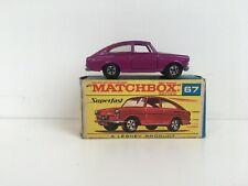 MATCHBOX SUPERFAST NO 67 * VOLKSWAGEN 1600TL VNM* IN ORIGINAL BOX *