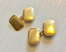 Good Gents Vintage Birmingham 1955 Full Hallmarked 9CT Gold Cufflinks