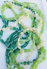 9 strands millefiori glass beads huge lot 318 pcs