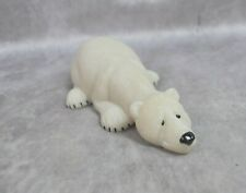 QUARRY CRITTERS 'Papa' Polar Bear Carved Soap Stone 8
