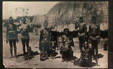 1936 Johannesburg South Africa RPPC Postcard Cover To Toronto Canada A Zulu Kraa