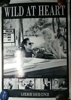 RARE 1990 David Lynch's WILD AT HEART UK Movie Poster Cage Dern Rossellini Dafoe