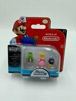 World Of Nintendo Micro Land Super Mario Bros Yoshi Bob-Omb Peach  Series 1-1 Br