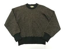 Product of Norway Fisherman birds eye Long Sleeve WOOL Sweater Adult Size Med.