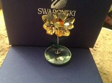 Beautiful Boxed Swarovski Crystal Rocking Flower Joy Sunflower Now Retired
