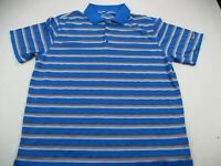 Nike Golf Standard Fit Polo Shirt Blue Stripes Men's Adult Extra Large