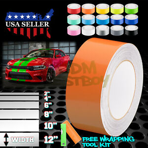 Gloss Color Racing Stripes Vinyl Wrap For Dodge Charger Stripe Sticker 25FT/50FT