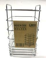 Silver Chrome Cutlery Holder Basket Kitchen Utensil Pot Drain Kitchen Organise