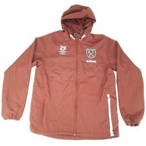 Umbro West Ham United Burgundy Jacket Size M Medium Very Good Condition