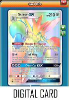 Pokemon TCG ONLINE Scizor GX (DIGITAL CARD) Celestial Storm Full Art Ultra Rare