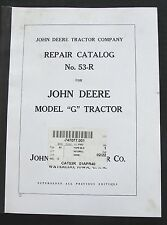 1940 JOHN DEERE MODEL G TRACTOR REPAIR PARTS CATALOG MANUAL VERY CLEAN