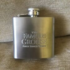 The Famous Grouse Scotch Whiskey 2.5 Oz Hip Flask. Stainless Steel.