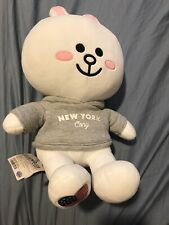 """LINE FRIENDS 16"""" / 40 cm NEW YORK CONY Bunny Plush Doll, New With Tag"""
