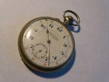 Antique Pocket Watch Chronometer Alps Metal Huge White