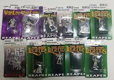 Reaper Miniatures Lot, D&D NIB Unpainted Metal - 11 Miniatures!