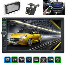 """7"""" 2DIN HD Touch Car Stereo Radio Bluetooth MP5 Player FM AUX Mirror Link+Camera"""