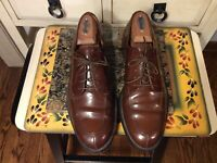 VINTAGE Men's COLE Haan OXFORD  Brown Leather Shoes Size 9 D