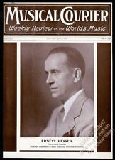 1937 Ernest Hesser Nyu Music Dept Chairman photo Musical Courier framing cover