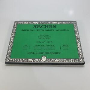 Arches Block 140Lb Cold Press 7X10 *read*