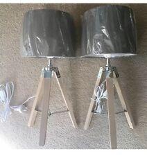 Rustic Hamptons Tripod Bedside Lamps Brand New