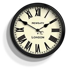 NEWGATE® London Large Round Wall Clock with Roman Numerals and Metal Case 50cm