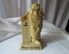 """Vintage World's Best Boss Statue R & W Berries 1971 Made in USA 820 6"""""""