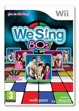 Nintendo Karaoke Wii Spiel We Sing 80s 80´s 80 die Achtziger  Neu