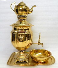 Rare Large Antique Persian Brass Coal Samovar Tea Pot PREMIUM Tula Tule Russian