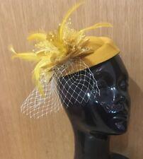 Fascinator Hat Pillbox Flower Veil Hatinator UK Wedding Ascot Races Clip Felt
