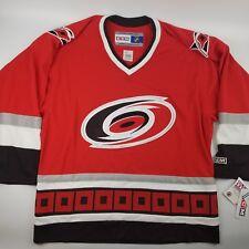 Carolina Hurricanes NHL CCM Hockey Jersey Size Large Red Embroidered