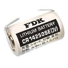 1 Stück 1/2 AA mit U-Lötfahne  * FDK / SANYO * BATTERIE - CR14250SE-LFU - 3 Volt