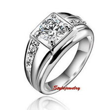 Solitaire with Accents 18k Rings for Men