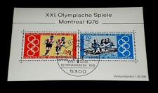 GERMANY, 1976, MONTREAL OLYMPICS, SOUVENIR SHEET, USED, NICE! LQQK!
