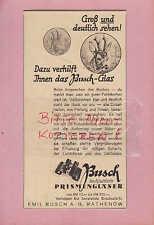 RATHENOW, Werbung 1936, Emil Busch AG Prismen-Feldstecher Gläser