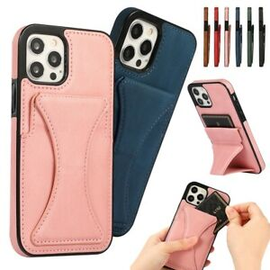 Cover For Samsung Galaxy S21 Plus S20 Ultra S20FE Card Slot Magnetic Back Case