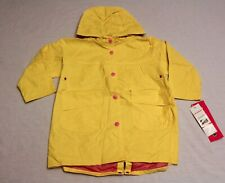 Wippette Kids Girl's Button Up Snap Cuff & Pocket Raincoat CH3 Yellow Size 2T