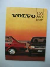 Volvo 340 360 Sedan prestige brochure Prospekt Dutch text 28 pages 1984
