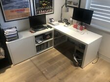 BoConcept Home Office Desk and Console Cabinet With Filing Drawer